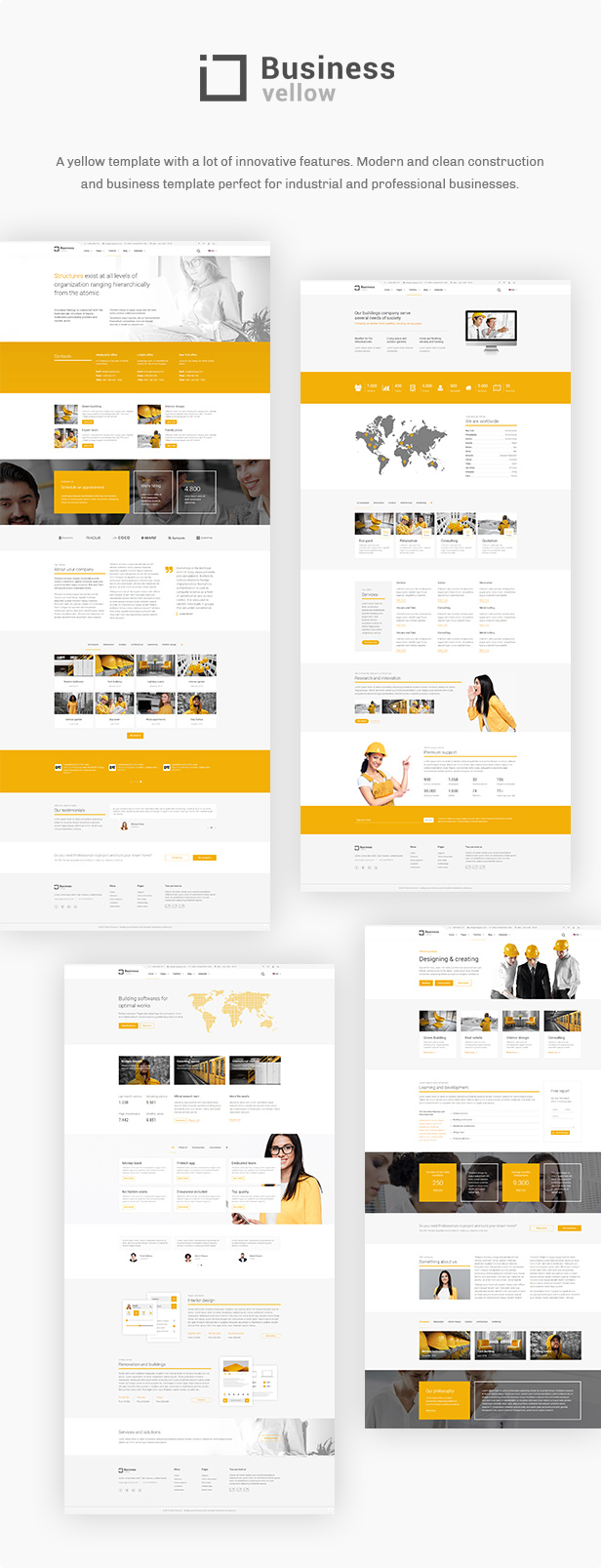 Yellow Business - Construction Template - 2
